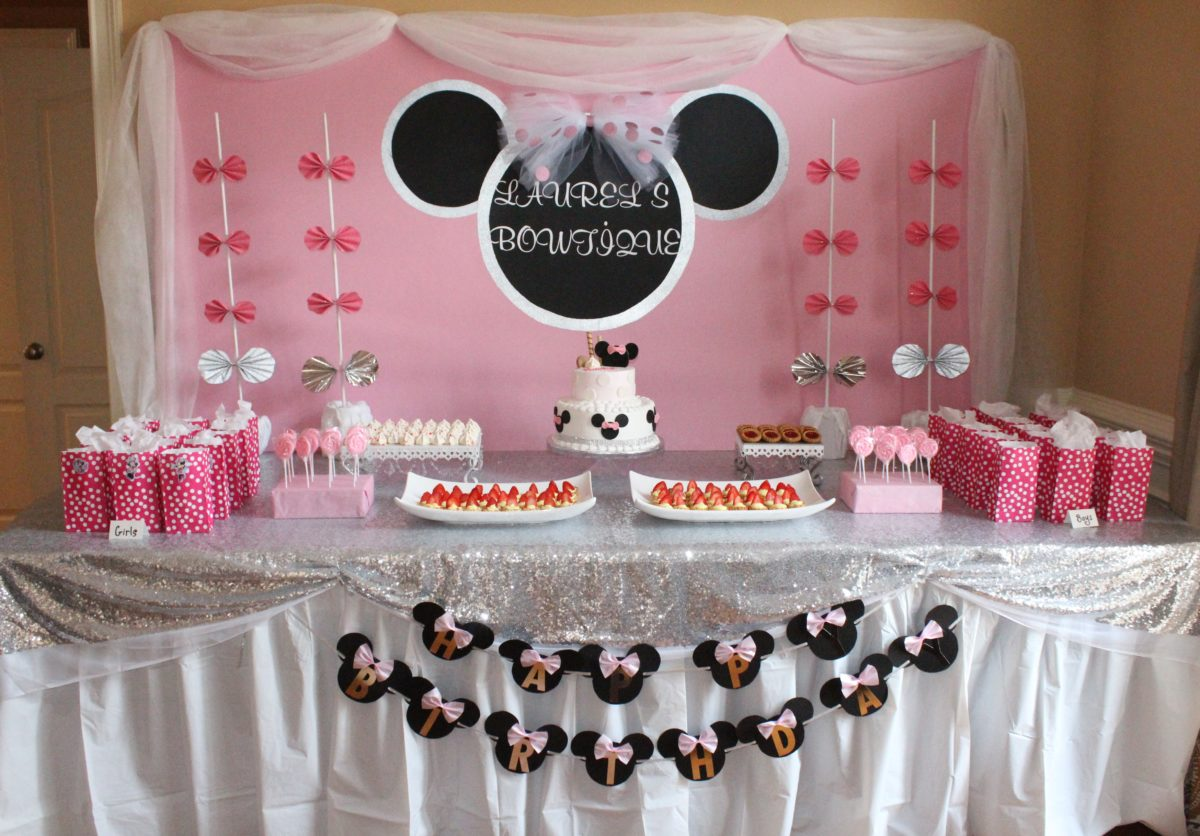 DIY Minnie Mouse Birthday Party DIY Bucket List